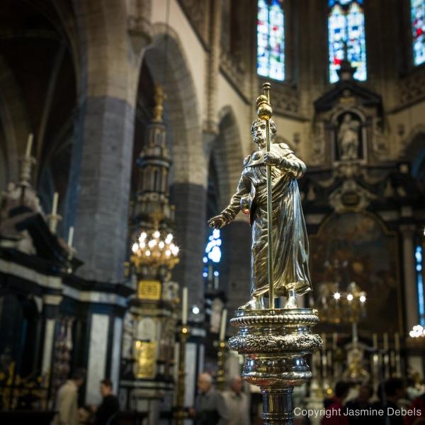 De zilveren Sint Jacobstaf - Sint Jacobskerk Gent